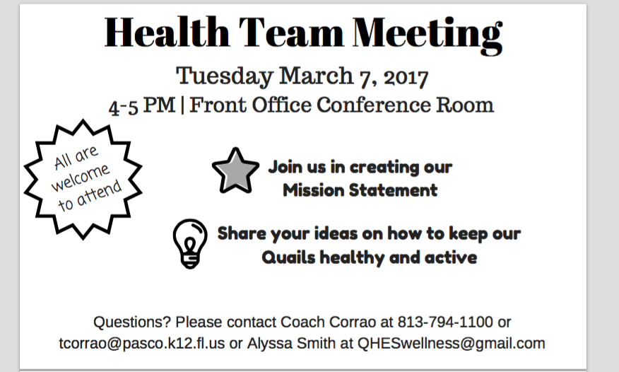 Health Team Meeting