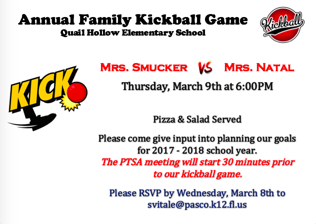 Quail's Annual Family Kickball Game